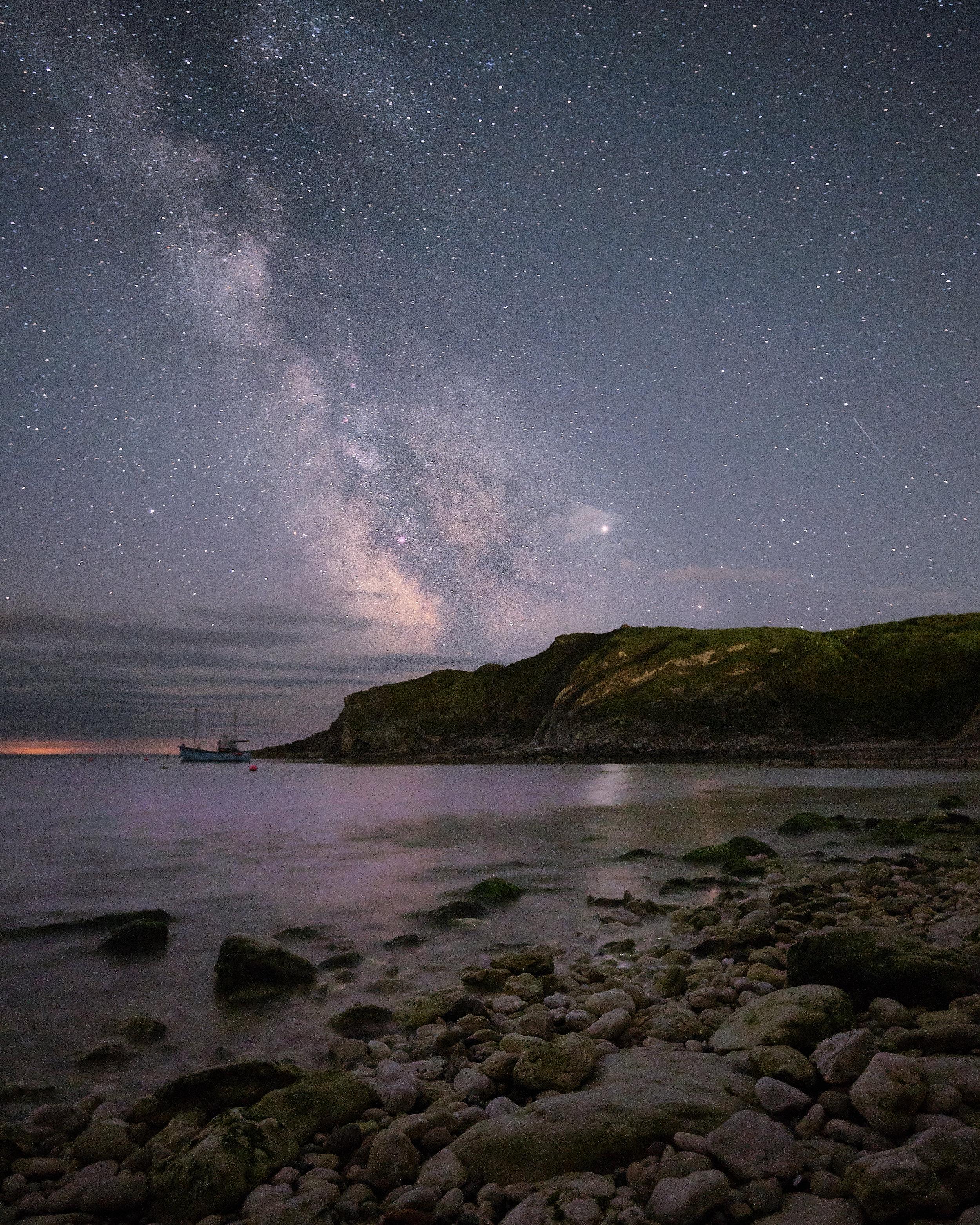 The Milky Way over Lulworth Cove - Dorset
