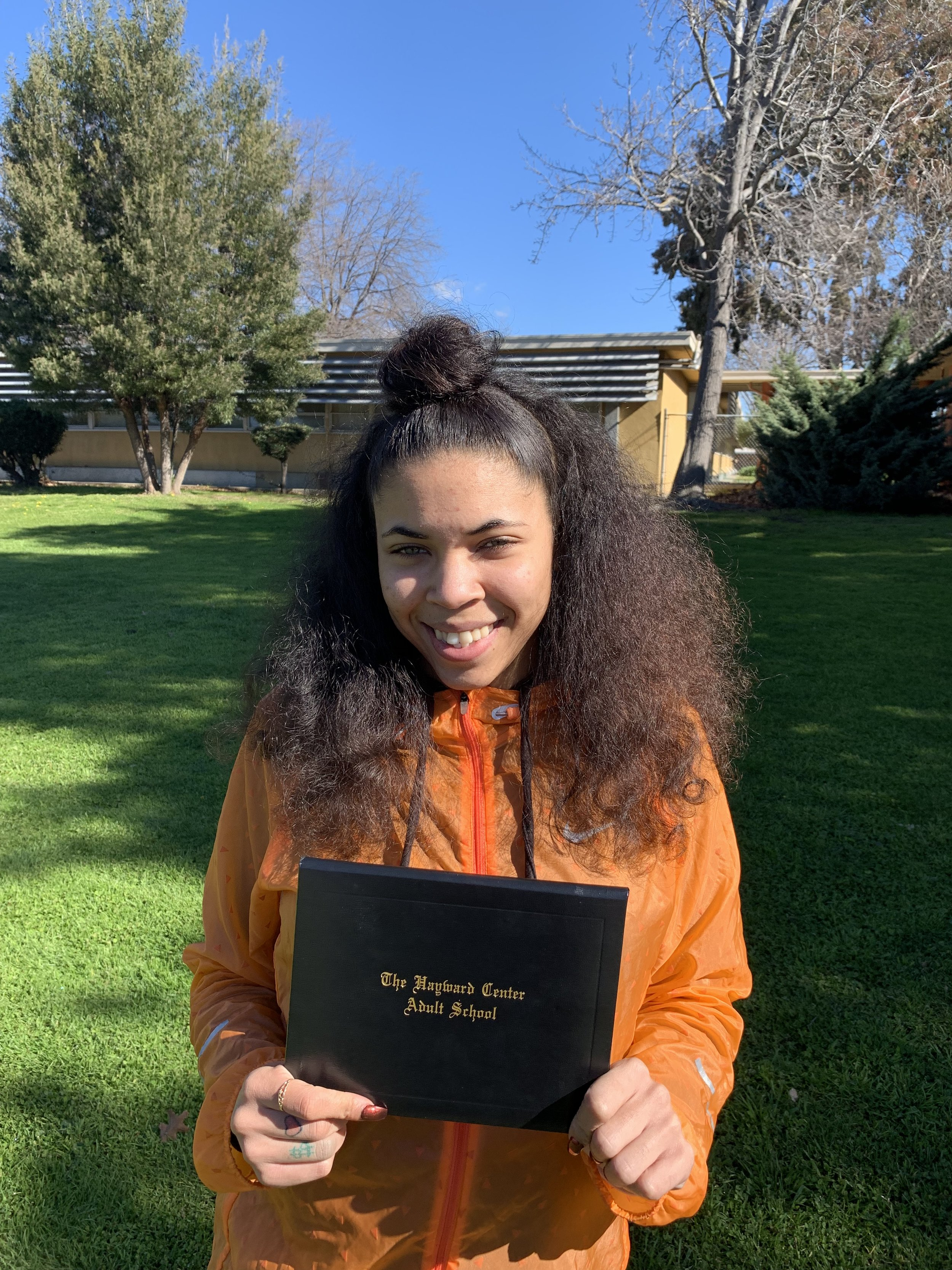 Mariah F. - Congratulations Mariah Fountain! Mariah joined Youth Enrichment Services in January 2019 with the goal of attaining her GED. She has persevered through many obstacles and has finally obtained her GED on February 20, 2019. Mariah plans to attend Chabot College this summer and study Psychology to become a Mental Health Counselor. Great job Mariah! Keep it up!