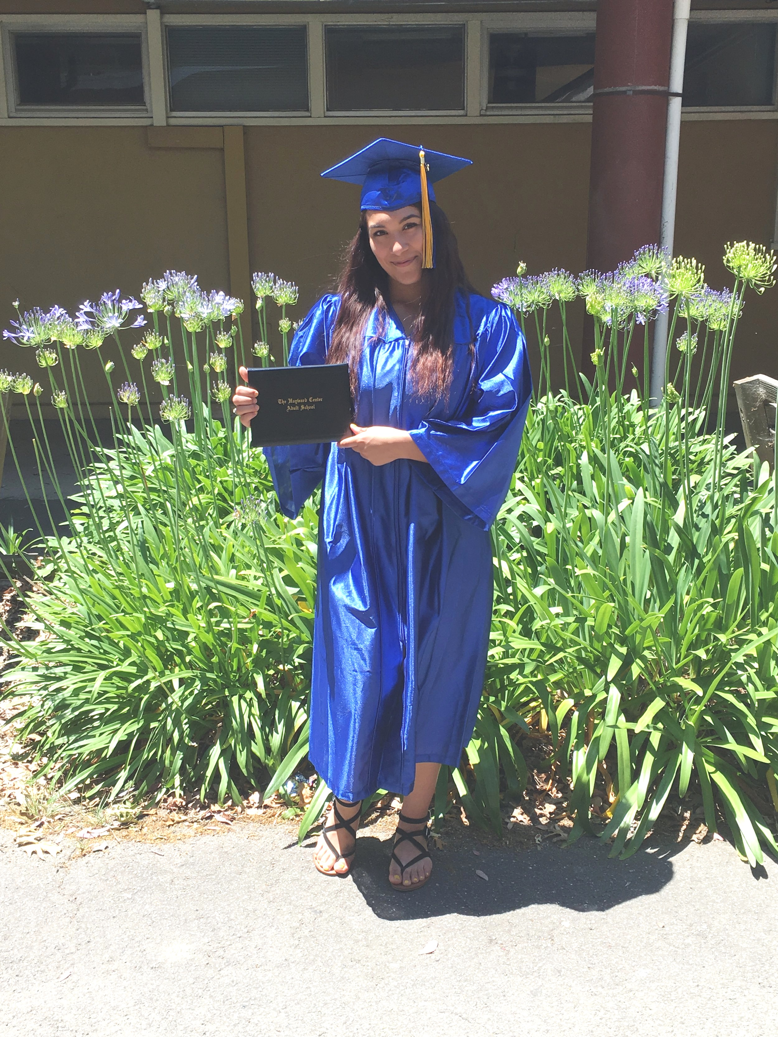 Tania G. - Congratulations Tania Gonzalez! Tania joined Youth Enrichment Services in April 2019 with the goal of attaining her H.S Diploma. Because of her great dedication and self motivation Tania successfully attained her H.S Diploma in May 2019. Now, Tania has enrolled into Chabot Community College and will be pursuing a degree in Business. You are awesome Tania! I know that you will be accomplishing great things in the future! Keep persevering!
