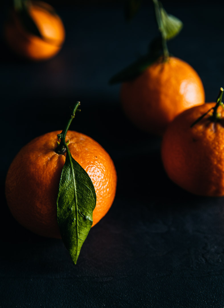 clementines shot with moody background and light. Sarah Ehlinger / Brand Spanking You Brand Photography