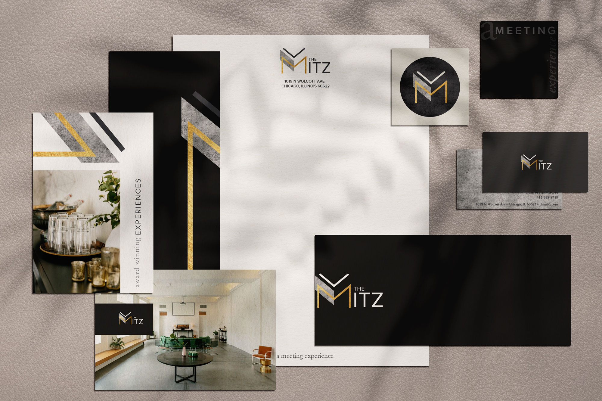 Brand Identity and Stationery for The Mitz, Chicago. Designed by Sarah Ehlinger | brand Spanking You