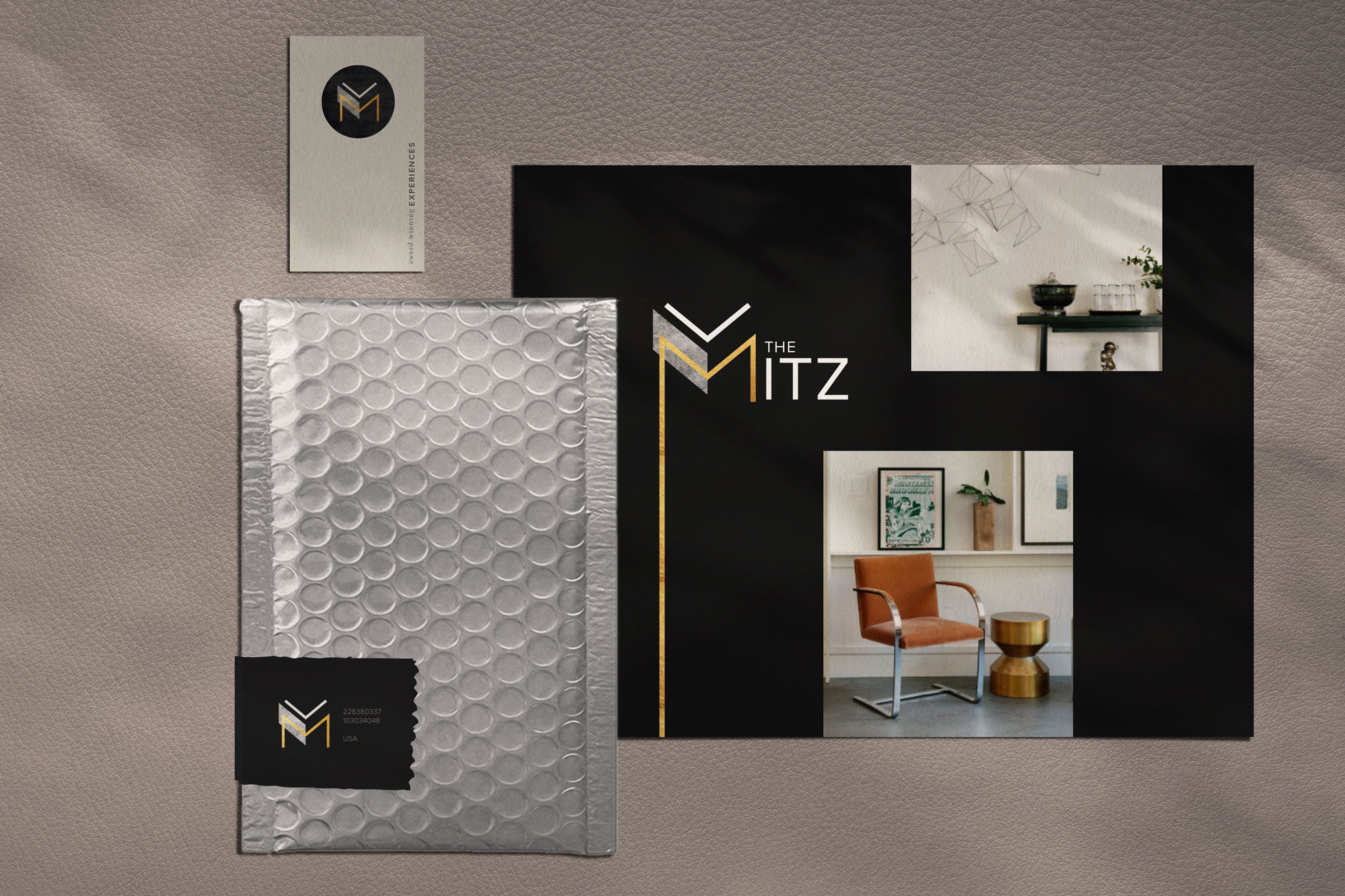Brand identity design for the Mitz, Chicago. Designed by Sarah Ehlinger | Brand Spanking You