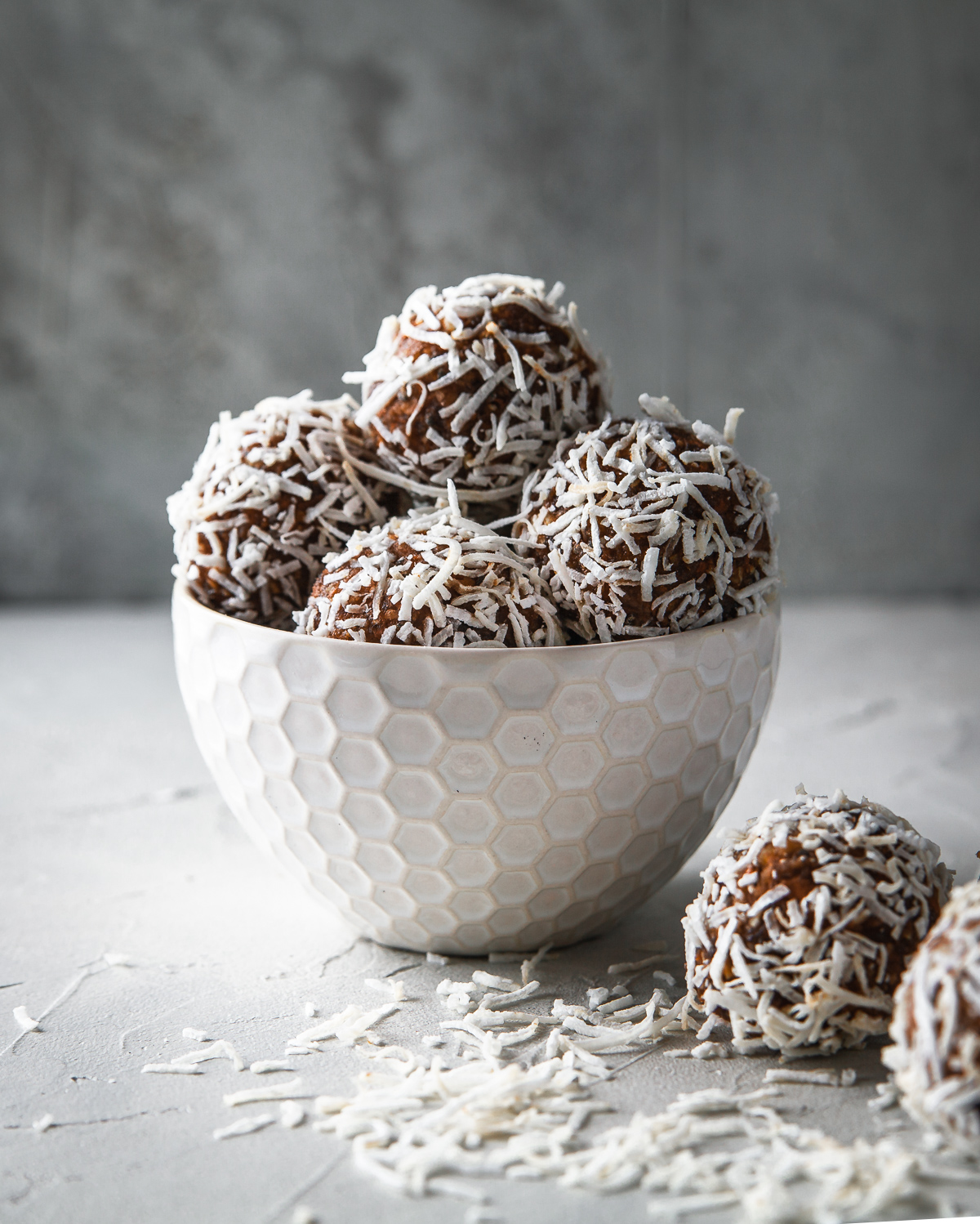 Carrot Cake bliss balls recipe. An instant pick me up with dates, chia and coconut.