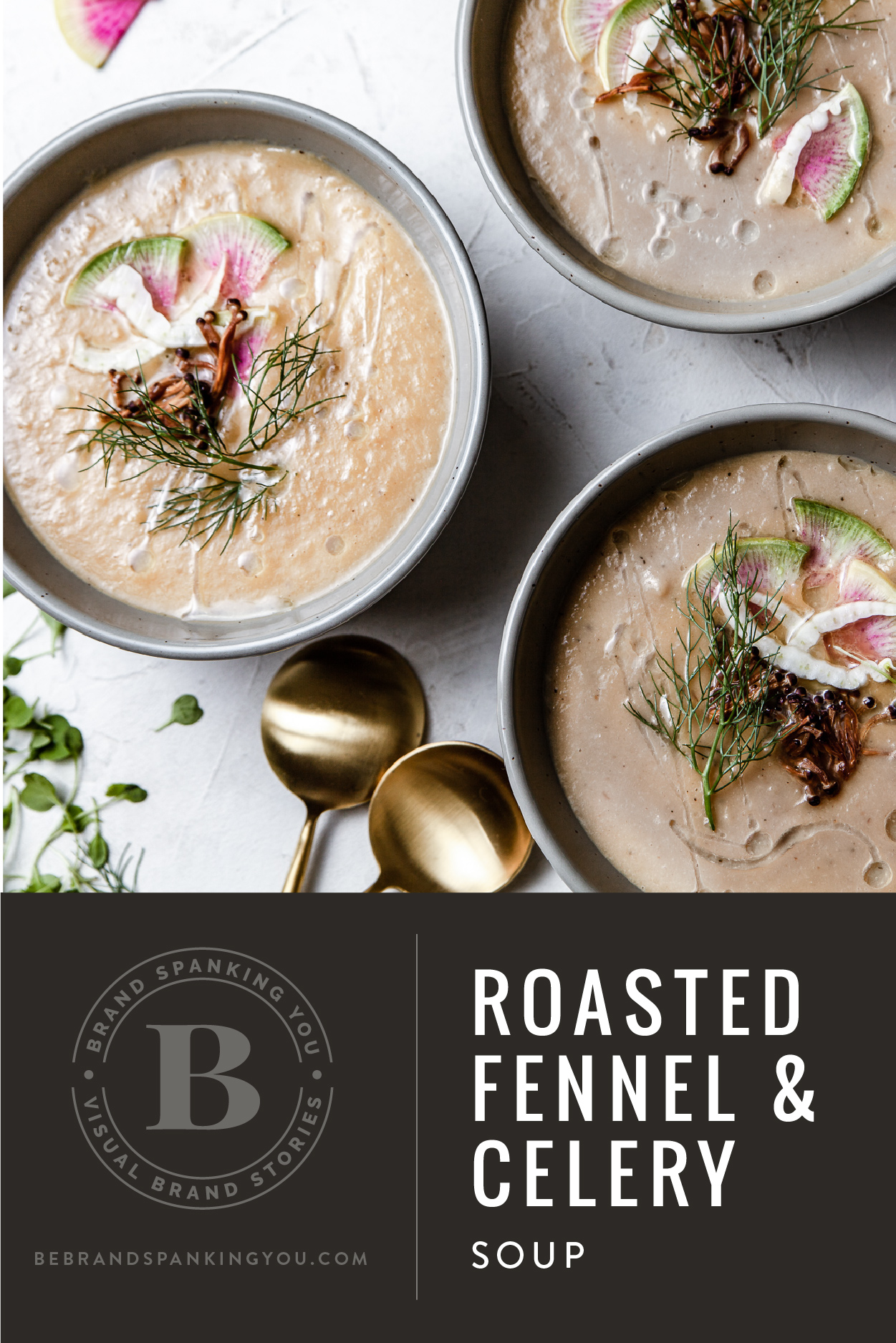 recipe for savory roasted fennel and celery soup
