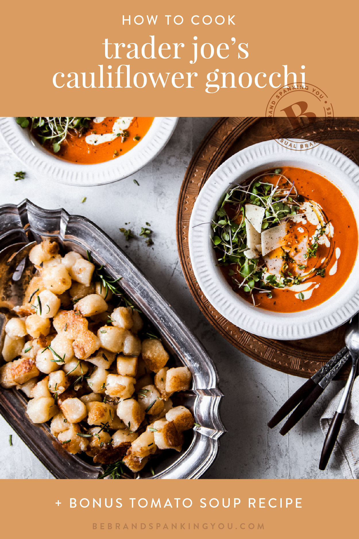 Turns out, the secret to cooking Trader Joe's Cauliflower Gnocchi is to ignore the instructions. Pair it with this easy tomato soup and you've got a weeknight meal in less than 30 minutes.