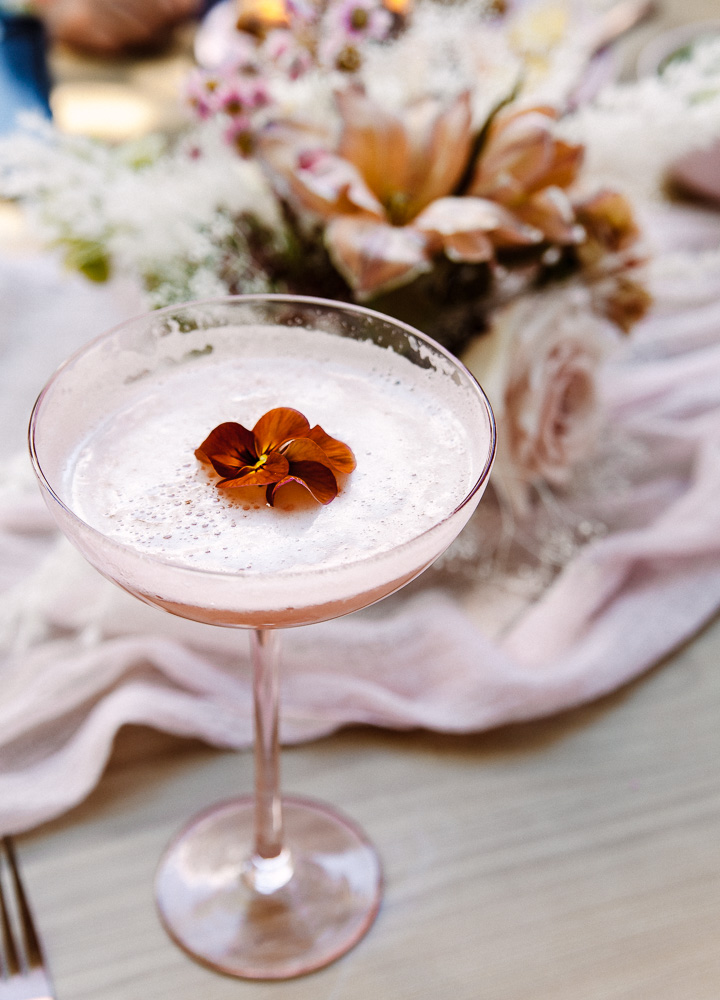 Blushing Pisco Sour. The signature drink for Drinking with Chickens Hen party bridal shower.