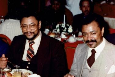 """Isaac """"Uncle Ike""""Robinson, Elliott Robinson, Jr. (my Dad) (circa 1984)"""