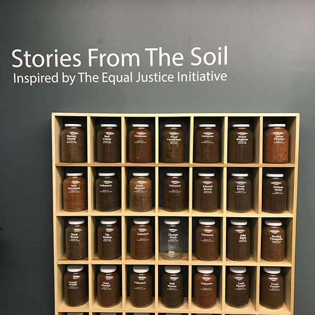"What an honor to be present for the opening of ""Stories from the Soil"" by @fultonremembrance & @EJ I_org at @aarl_atl What a wonderful job by the Coalition to take the inspiration of Allison Bantimba and turn it into a lasting memorial to the victims of racial terror.  #createtension #jimcrow  #racism #endracism #history #stereotypes #APeoplesJourney #socialjustice #racialinjustice #soilcollection #lynching #eji #atlanta"