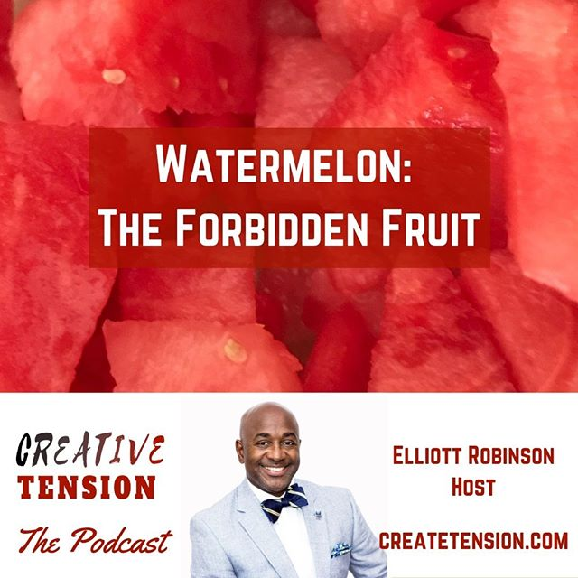 NEW EPISODE!! We examine the history and current day impact of the stereotype that African-Americans have an obsession with watermelon. We get insight from a roundtable discussion and learn a way to address the watermelon stereotype from the late DC media legend, Petey Greene. (Listen where ever you find your favorite podcast or click link in profile).⠀ ⠀ #createtension #jimcrow #history #caricatures #watermelon #coon #racialetiquette #peteygreene #wdc #dmv #podsincolor #podcastsincolor #dopeblackpods #podcasts4theculture #podcasts #blackpodcast #podcastculture #podcastersofinstagram #applepodcasts #podcastlife #podcasthost #podcaster #podcastlove