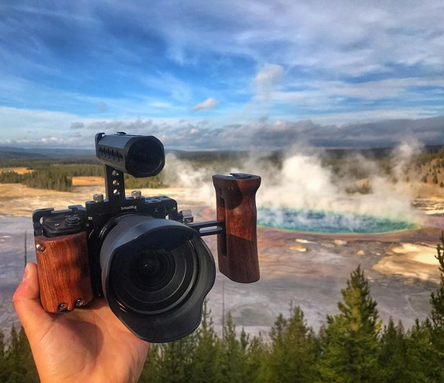 •good bye Yellowstone, had to snap a pic of the new Sony rig I got for this trip, it performed amazingly• - @a6300club @smallrigchina @sigmaphoto @sonyalpha -  #a6300 #smallrig #sigma16mmf14  #liveauthentic  #stayandwander #yellowstonenationalpark #welivetoexplore #liveoutdoors #wilderness  #wondermore #awakethesoul  #moodygrams #all2epic #theoutbound #wildernesstones #igmasters #keepitwild #illest_shots #wildernesstones #VisualsCollective #welivetoexplore #sonyalpha #yellowstone  #WestCoast_Exposures #grandprismaticspring #mountainlife #neverstopexploring