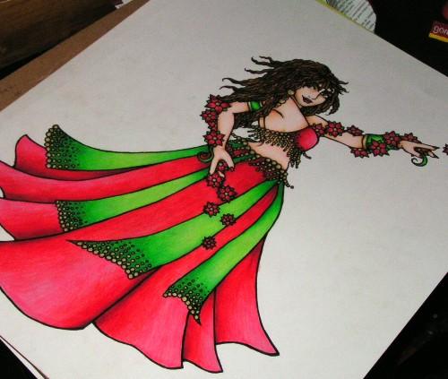 Ruby Belly Dancer art