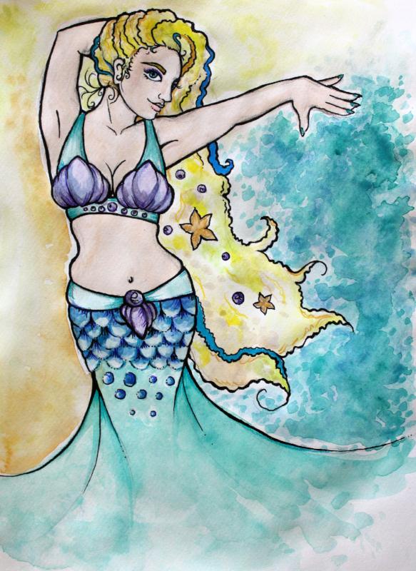Mermaid Belly Dancer