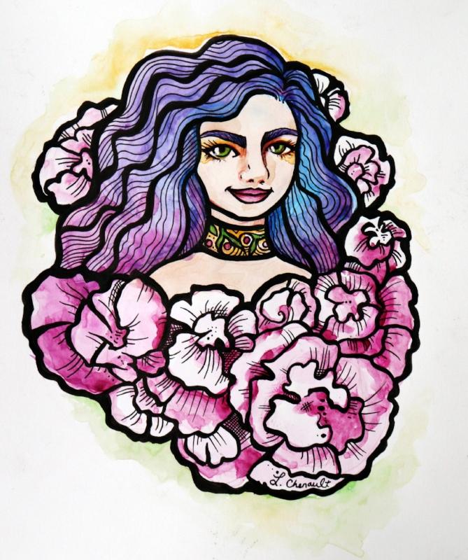 carnations goddess floral art