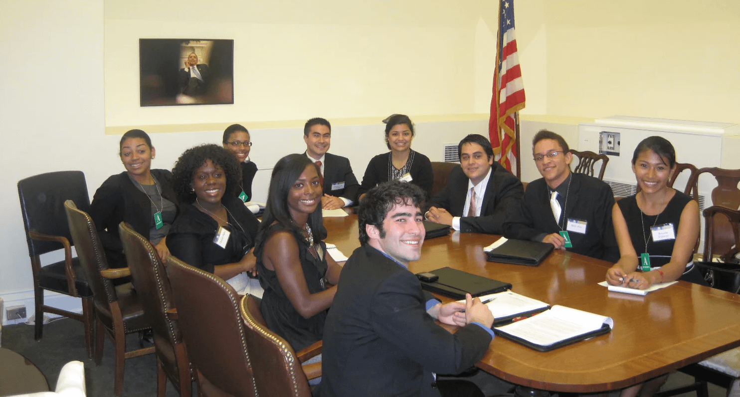 Class of 2010 at White House Executive Offices waiting to meet with Domestic Policy Council Staff