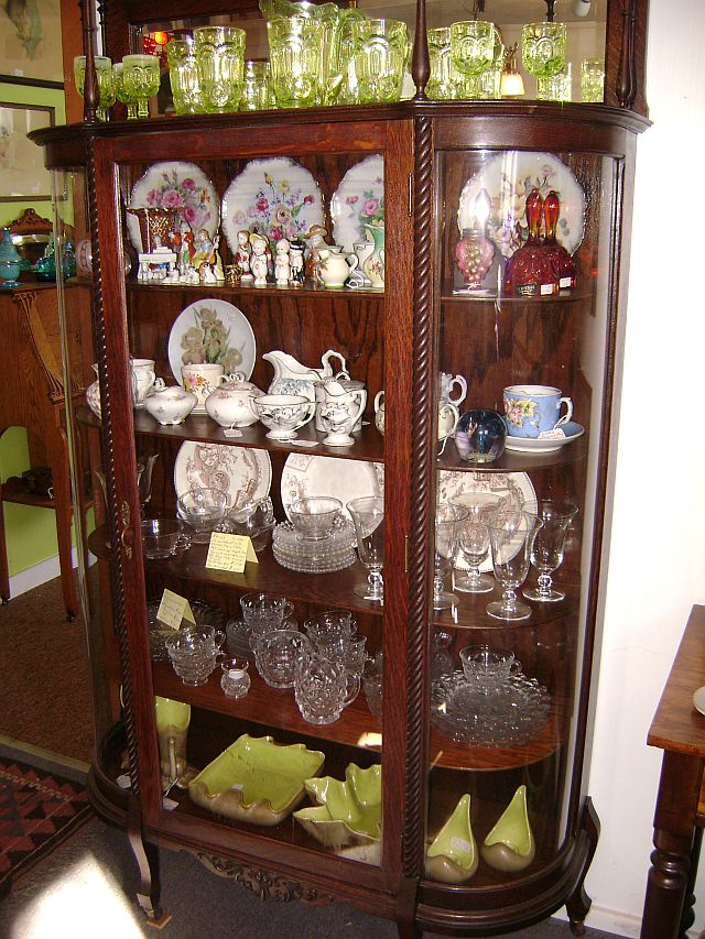 Cabinets of High Quality China and Glassware