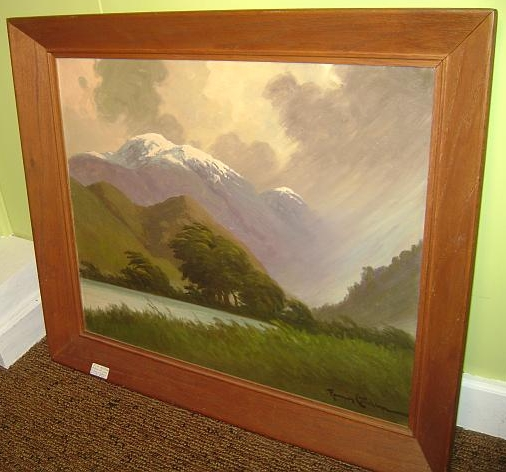 Andean Mountain Scene by Ramos Catalan