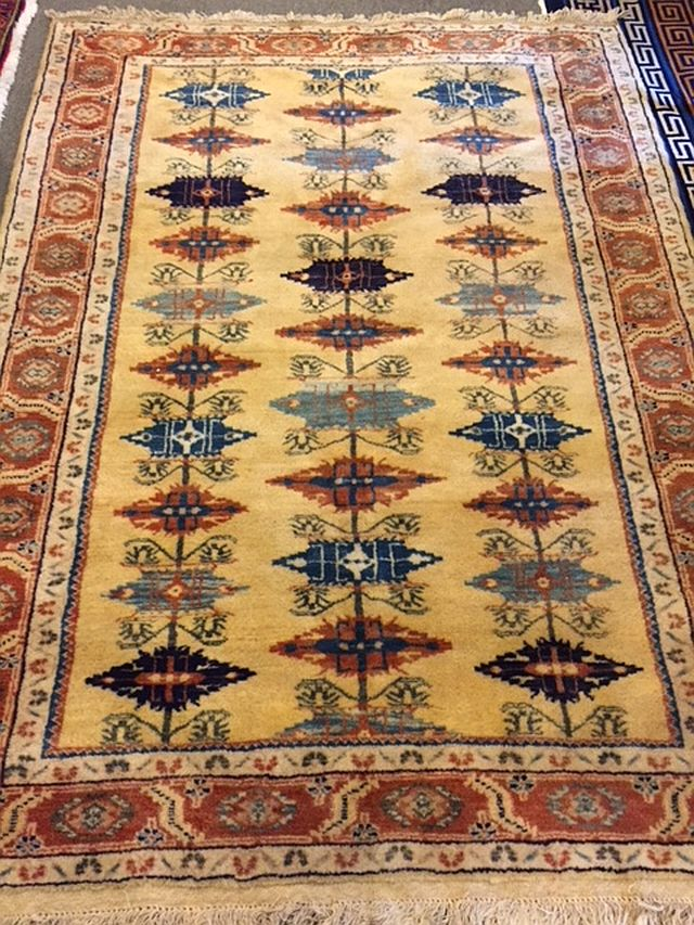 WS-401 Persian, hand-tied rug. 1970's. 60 x 82. $750