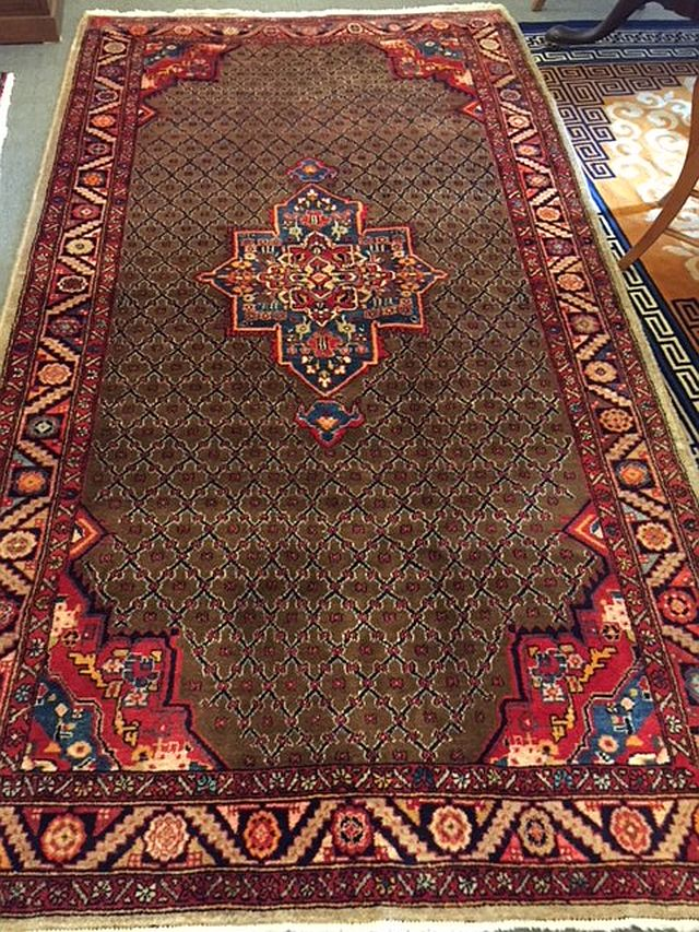 WS-402 Persian hand-tied rug. 1970's. 62 x 117. $985