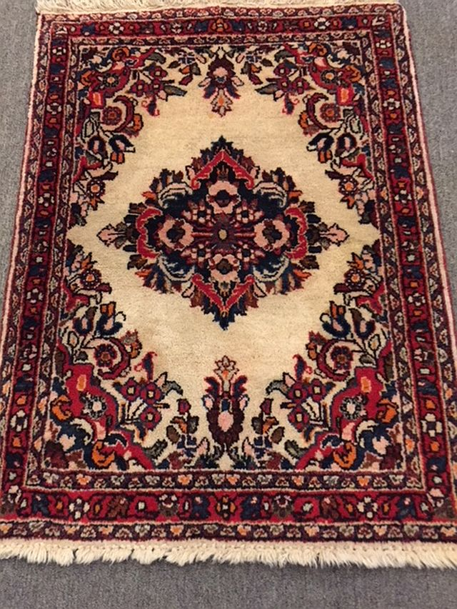 WS-406 Persian, hand-tied rug. 1960/70's. 23 x 32. $110