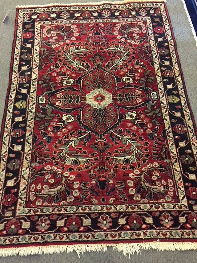 WS-410 Persian, hand-tied rug. Center medallion. 1960/70's. 39 x 58. $485