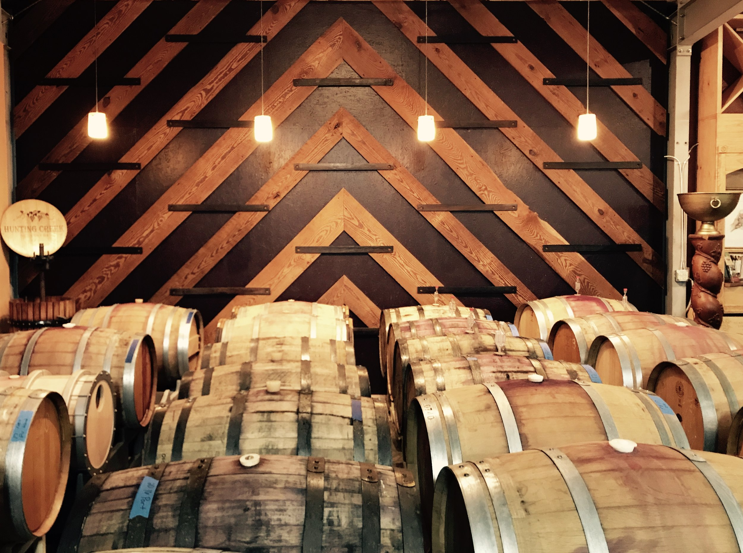 Barrel Previews - Preview what is coming next for Hunting Creek Vineyards with a trip to our wine cellar. Schedule a preview to compliment your wine pairing or library wine tasting with the owners/winemakers. (Preview 2 wines for $6) (Call or E-mail in advance)