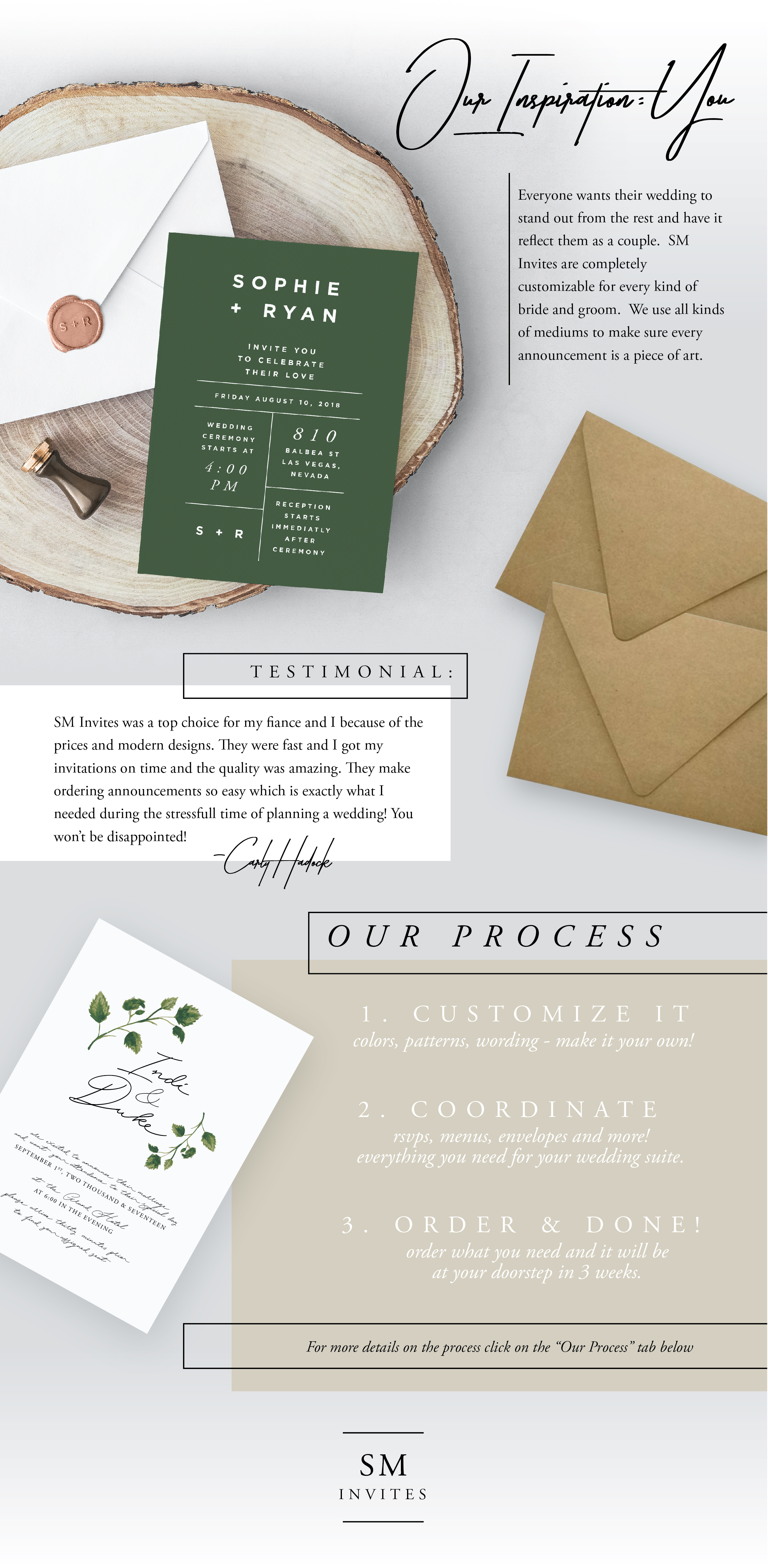SM Invites Wedding Invitations Utah America