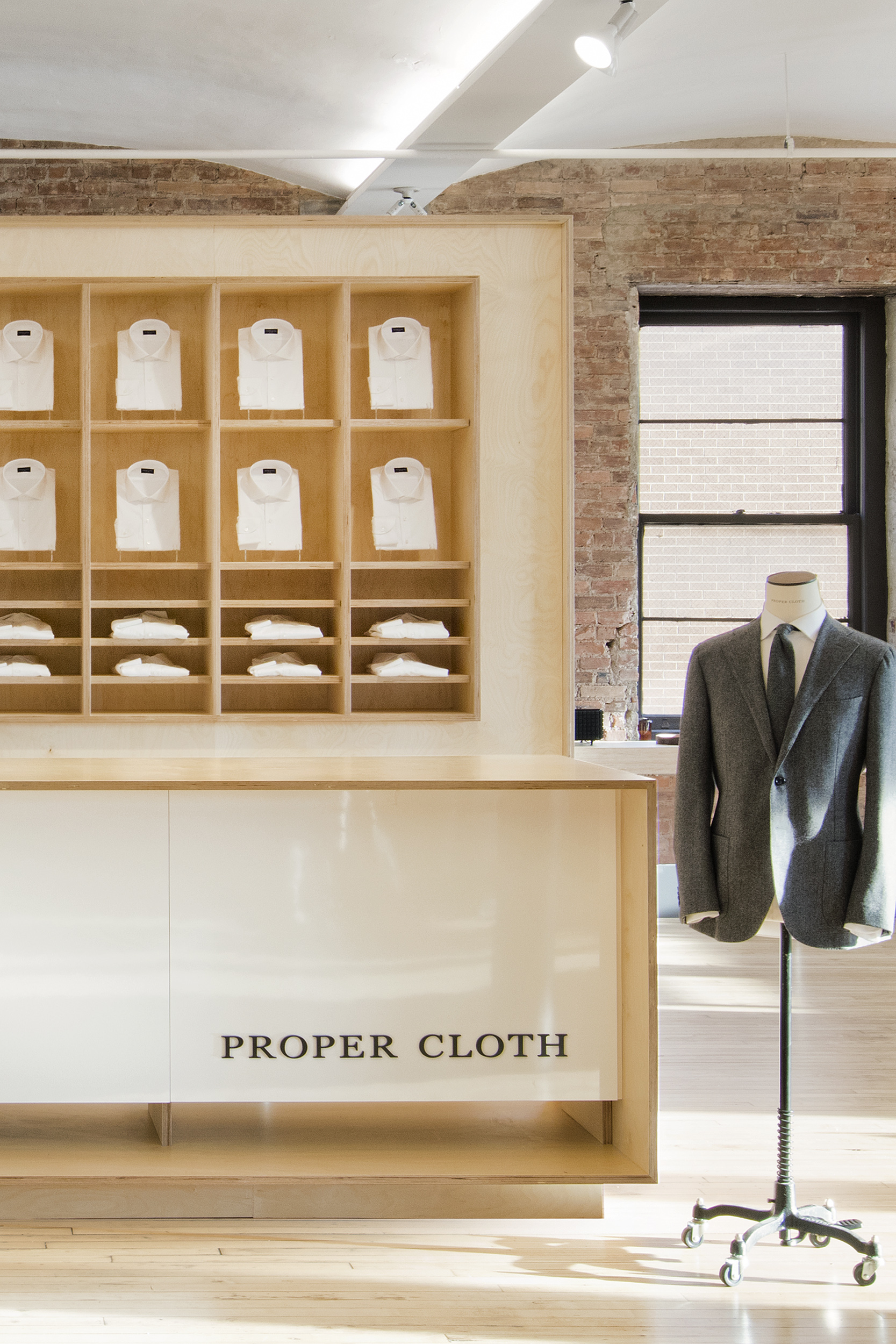 the perfect fit. - Proper Cloth's expansive showroom is located in Soho at 495 Broadway, 6th Floor.