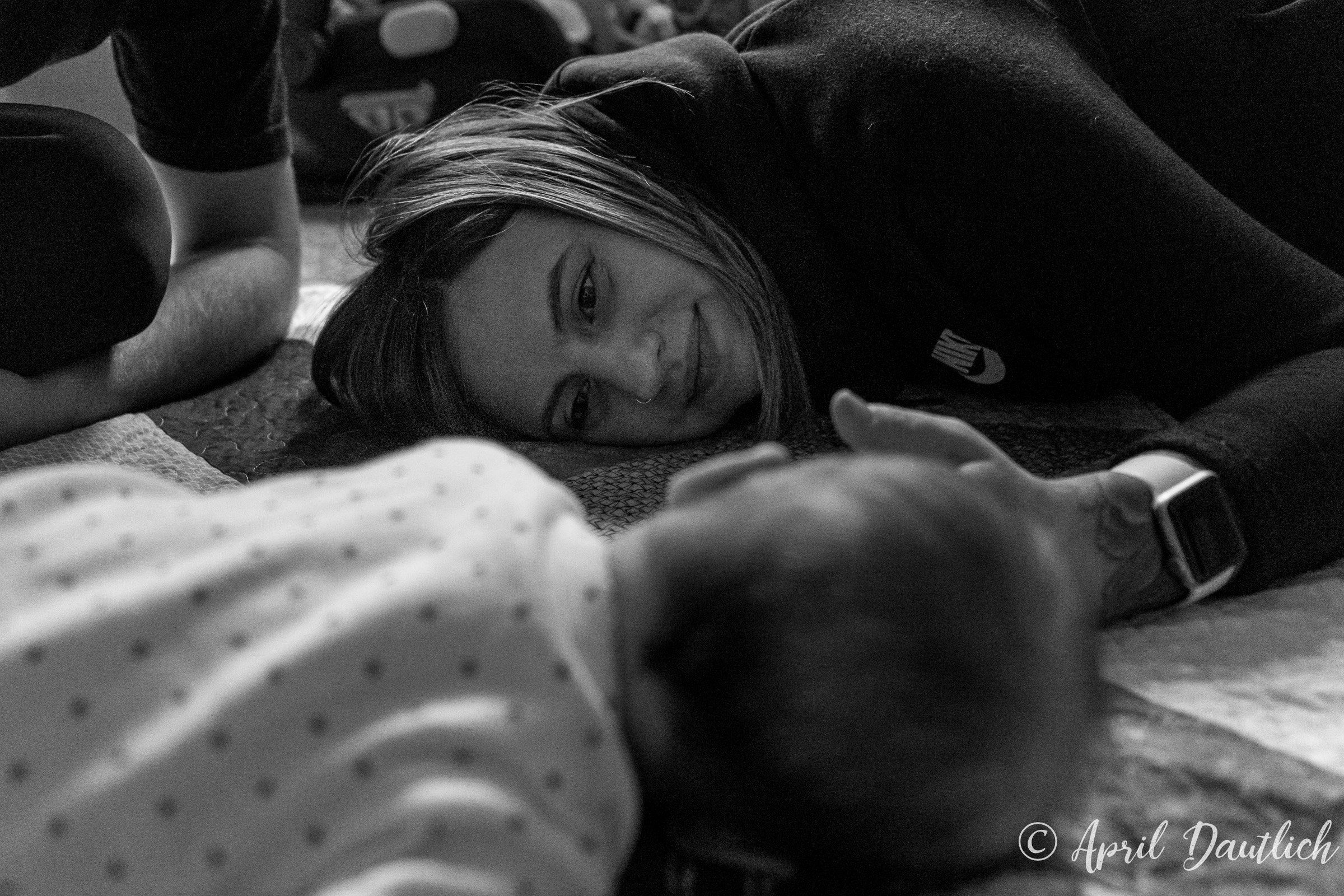 Tummy Time during family portrait session
