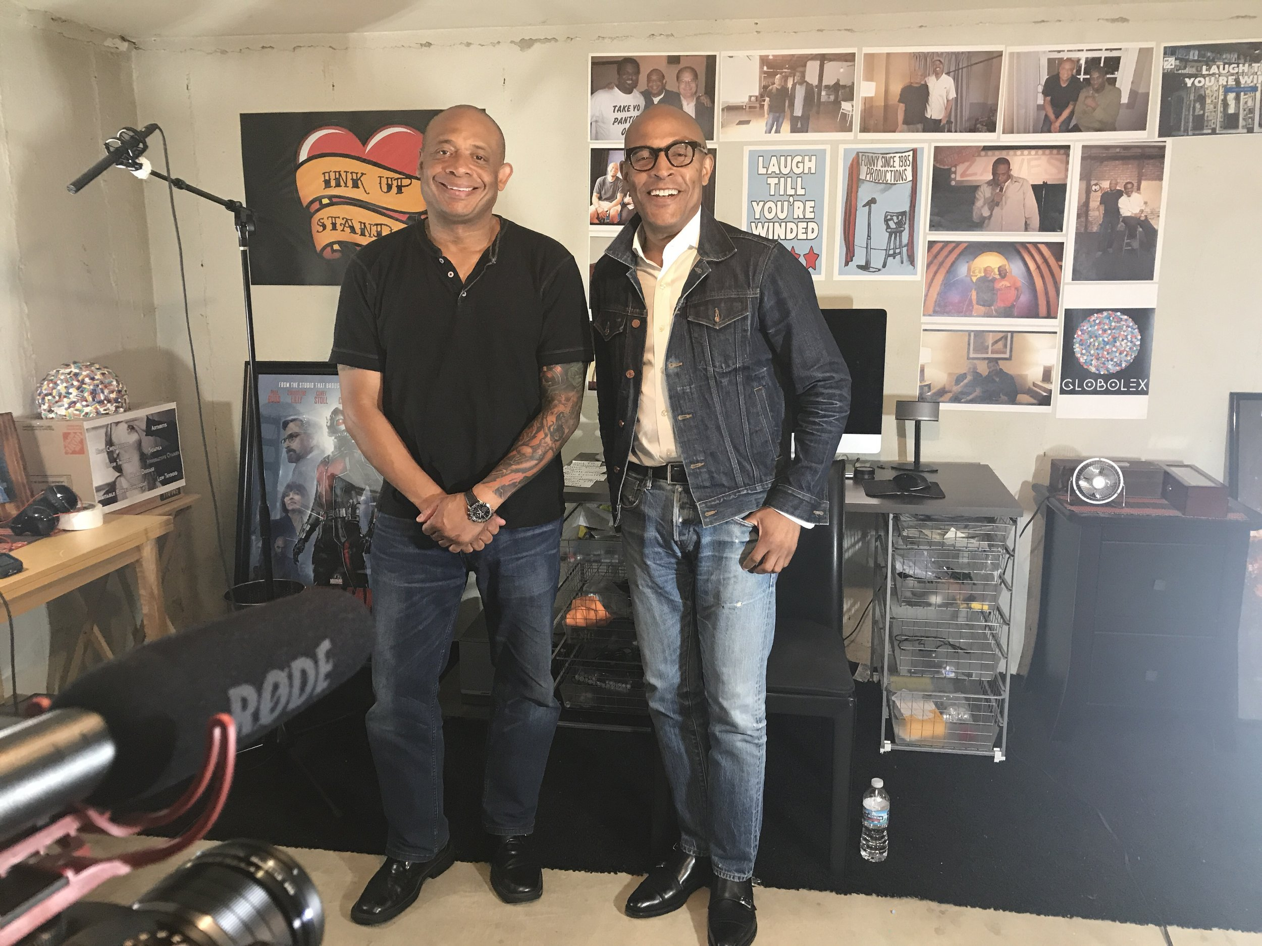 Michael and Raymond Lambert Founder of All Jokes Aside and executive producer of Phunny Business A Black Comedy Club.JPG