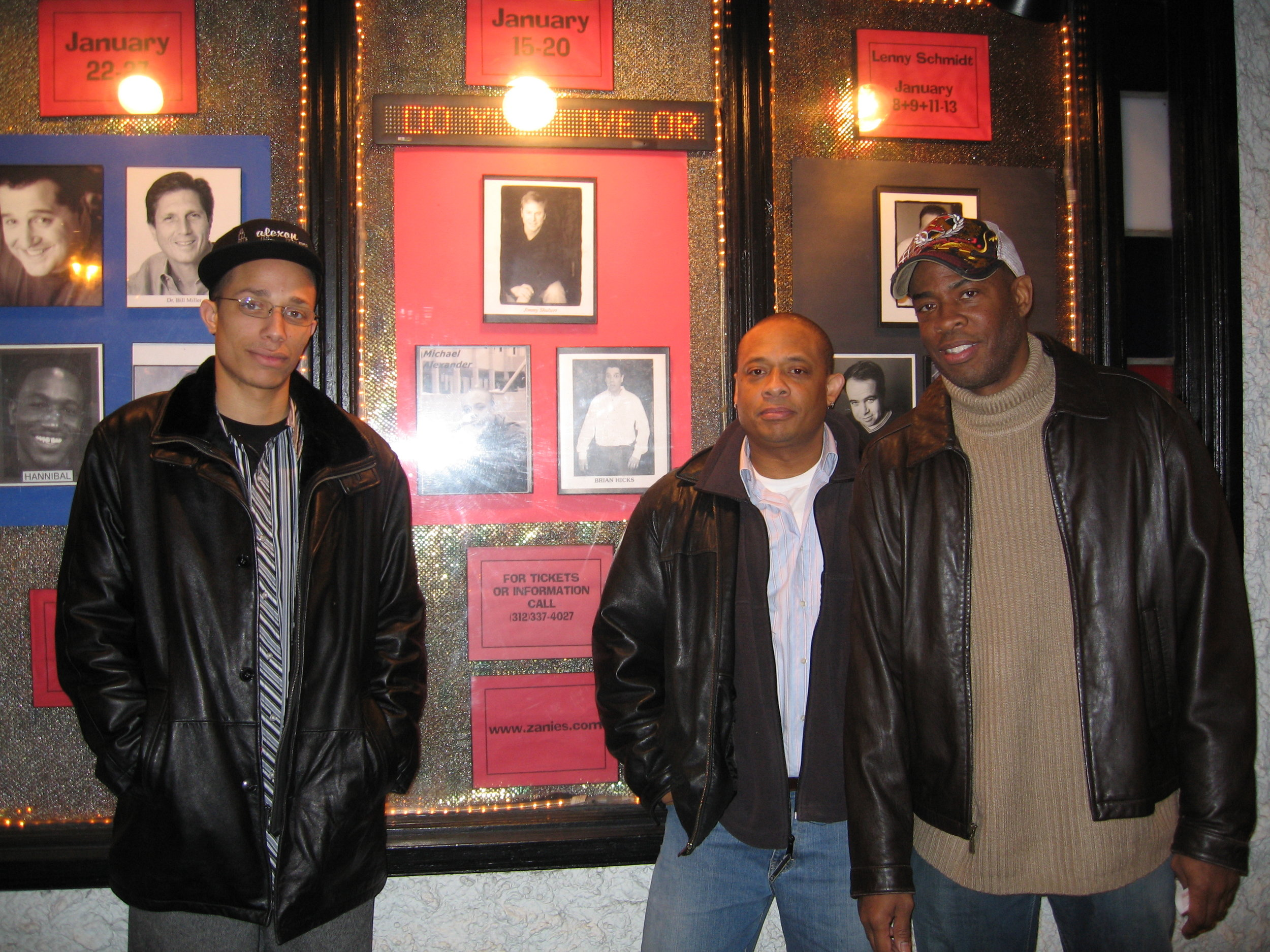 Michael, his son Alex, and brother Reese at Zanies