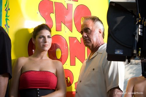 On Set of Sno Cone Stand as Sally. Tony Sirico's wife