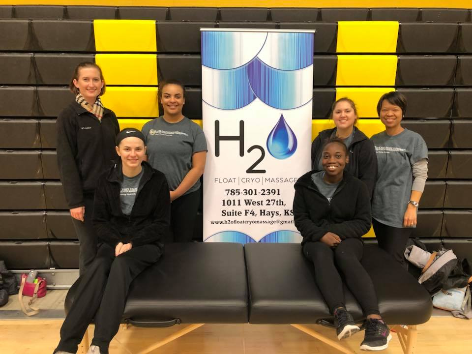 H2O partners with the FHSU Massage Therapy Program - H2O partnered with the massage therapy program to provide massages to the wellness fair.