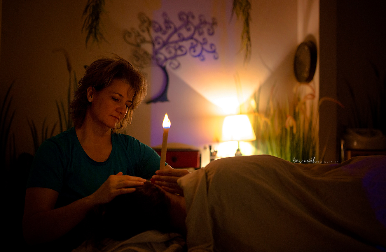 Ear Candling - 1 session, $35Ear candling is a technique that involves placing a hollow, cone-shaped tube, or