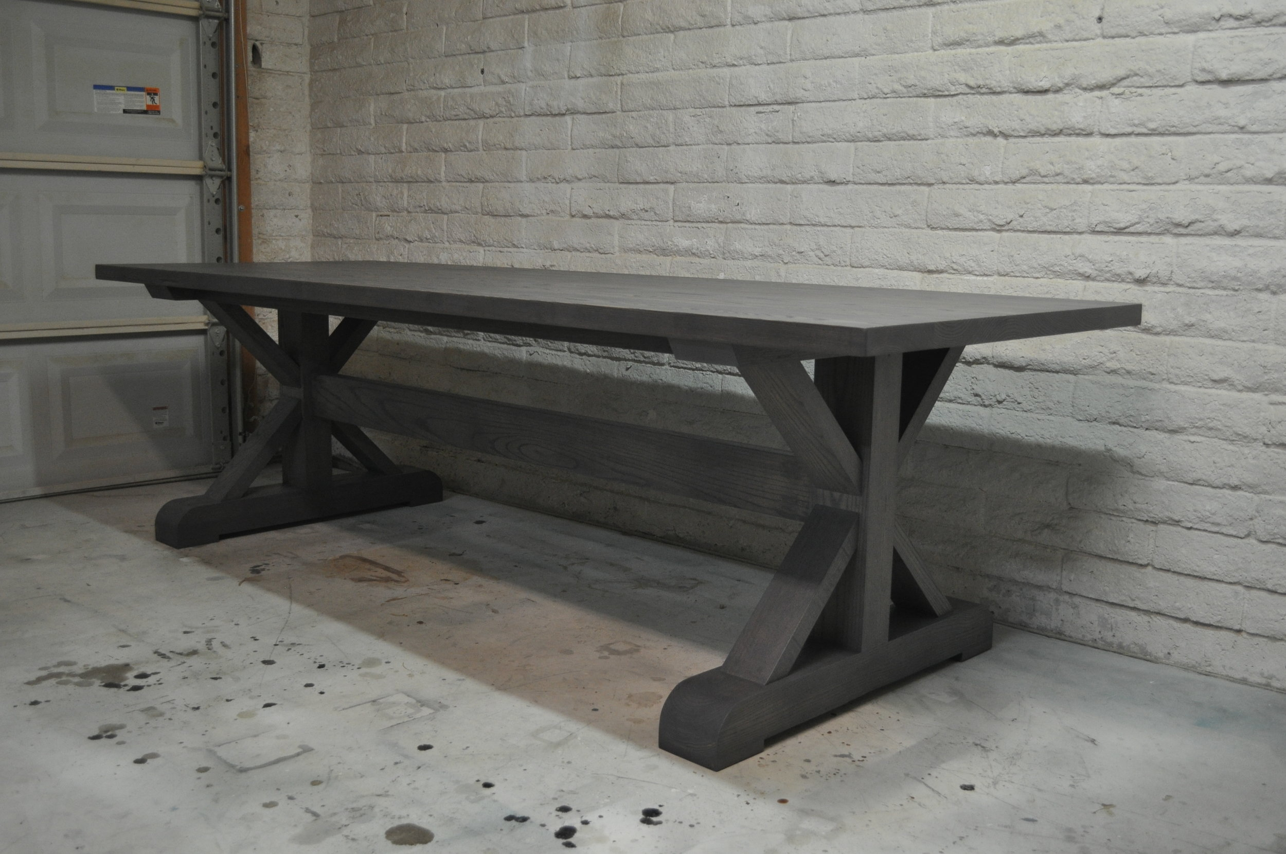 Solid Ash X-Base Dining Table