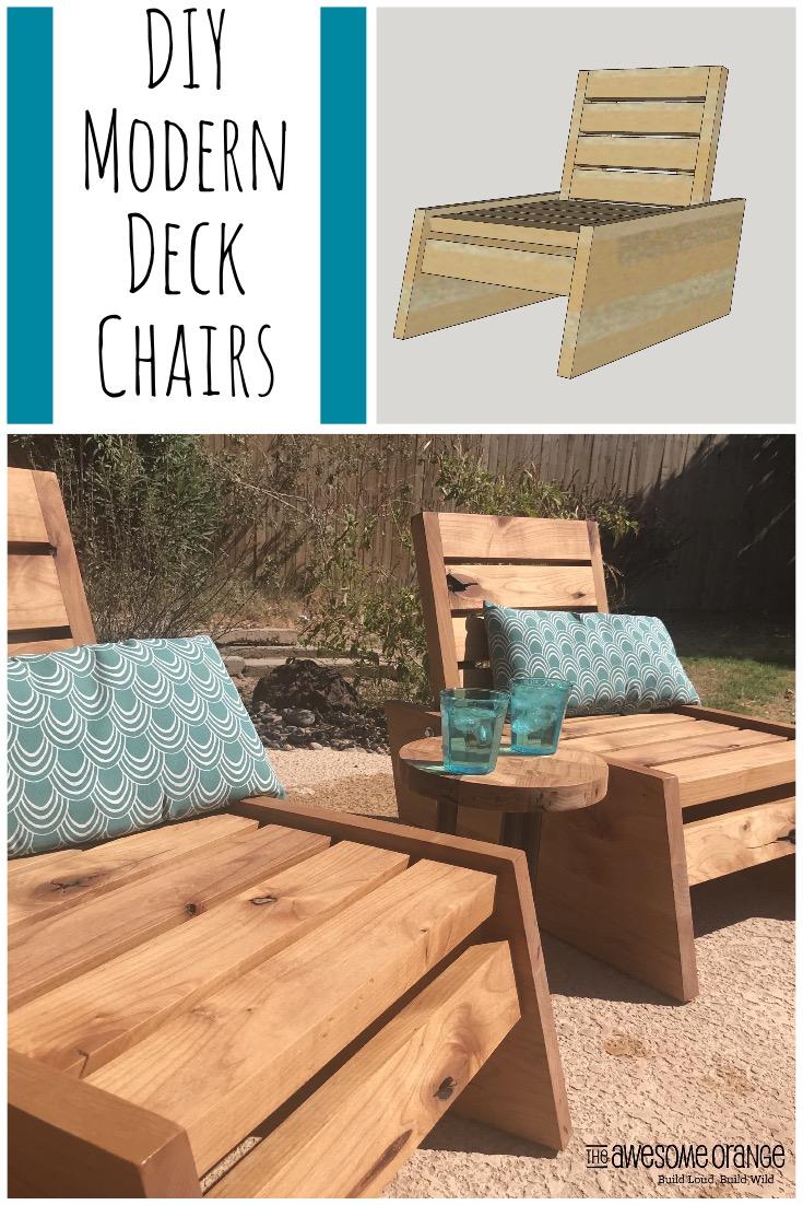 Modern Deck Chairs - Pinterest Image