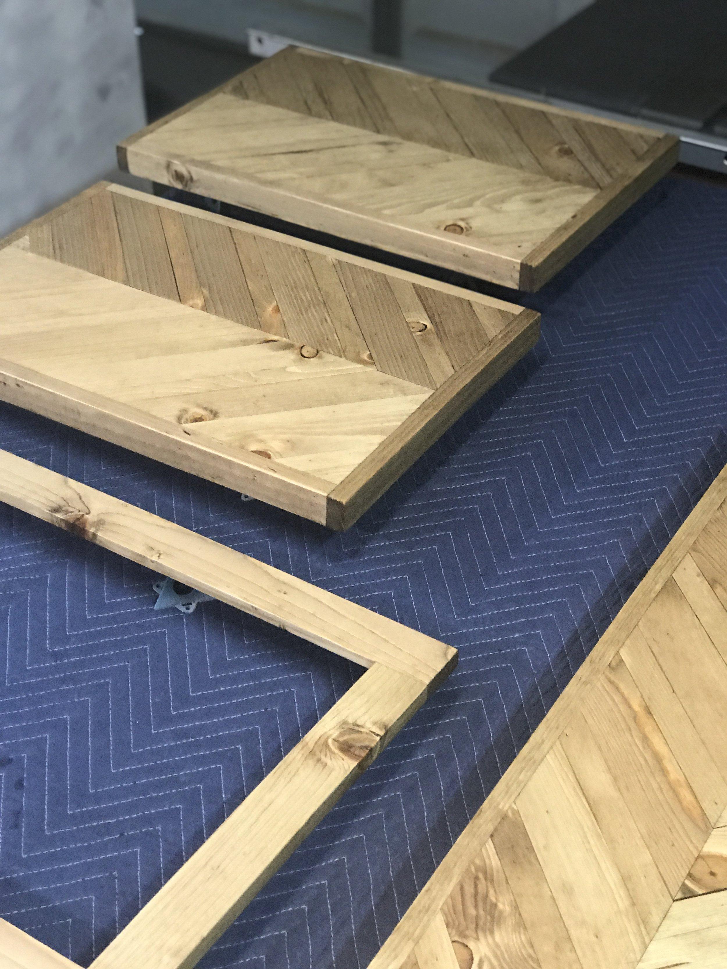 Wooden Chevron Countertops