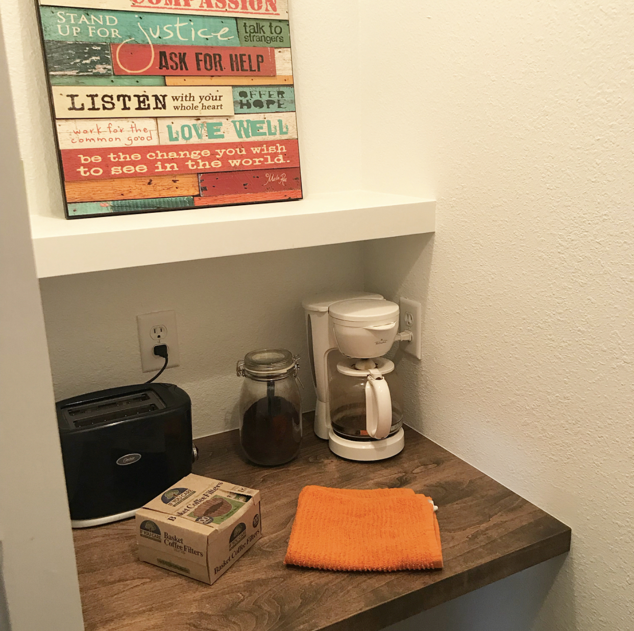 Pantry After - Hidden Coffee Station