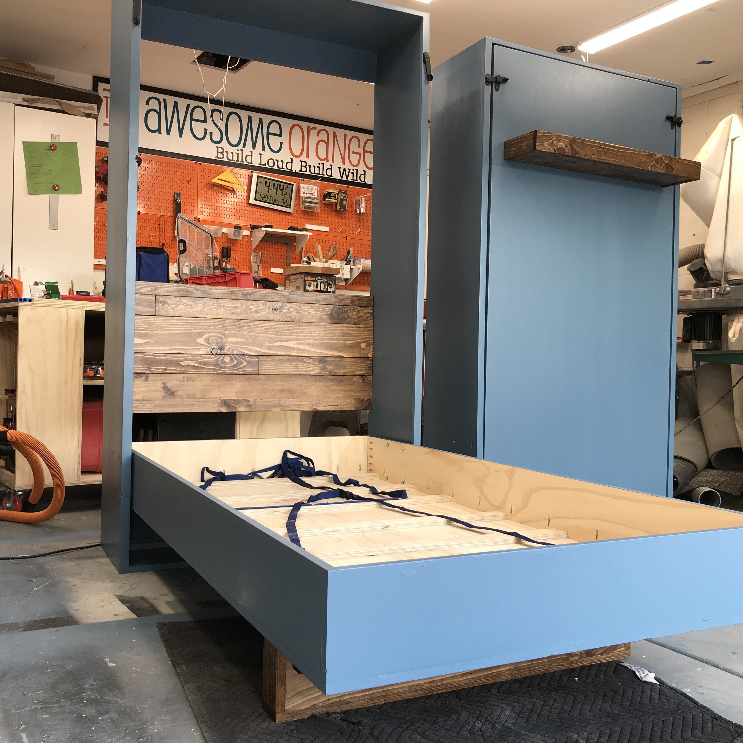 Diy Twin Murphy Bed Plans The Awesome Orange