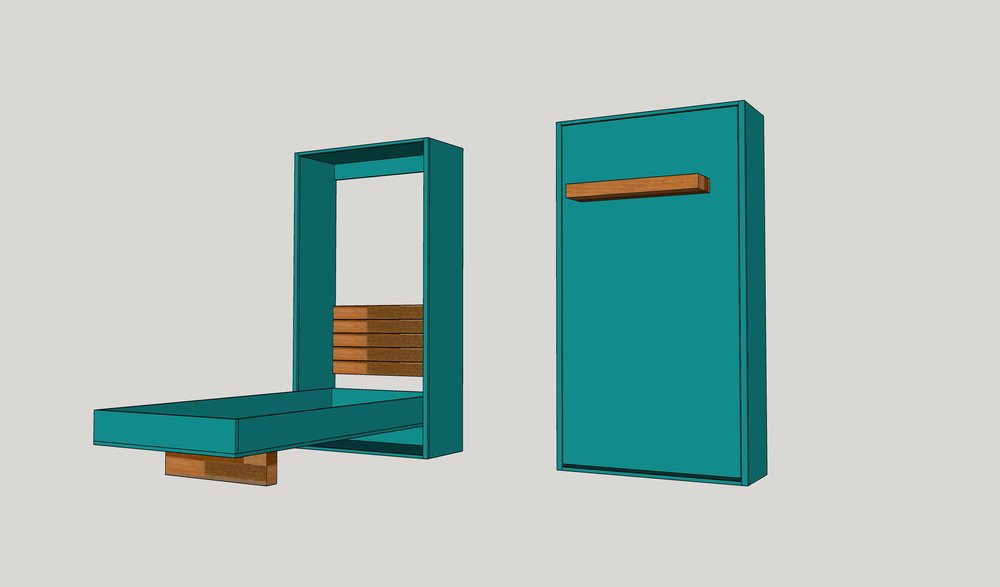 Diy Twin Murphy Beds Without, How To Build A Murphy Bed With Sofa Free Plans
