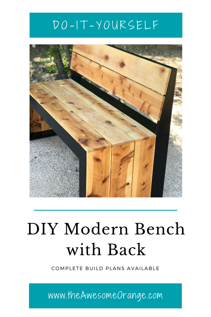 PIN - diy modern bench with back.png