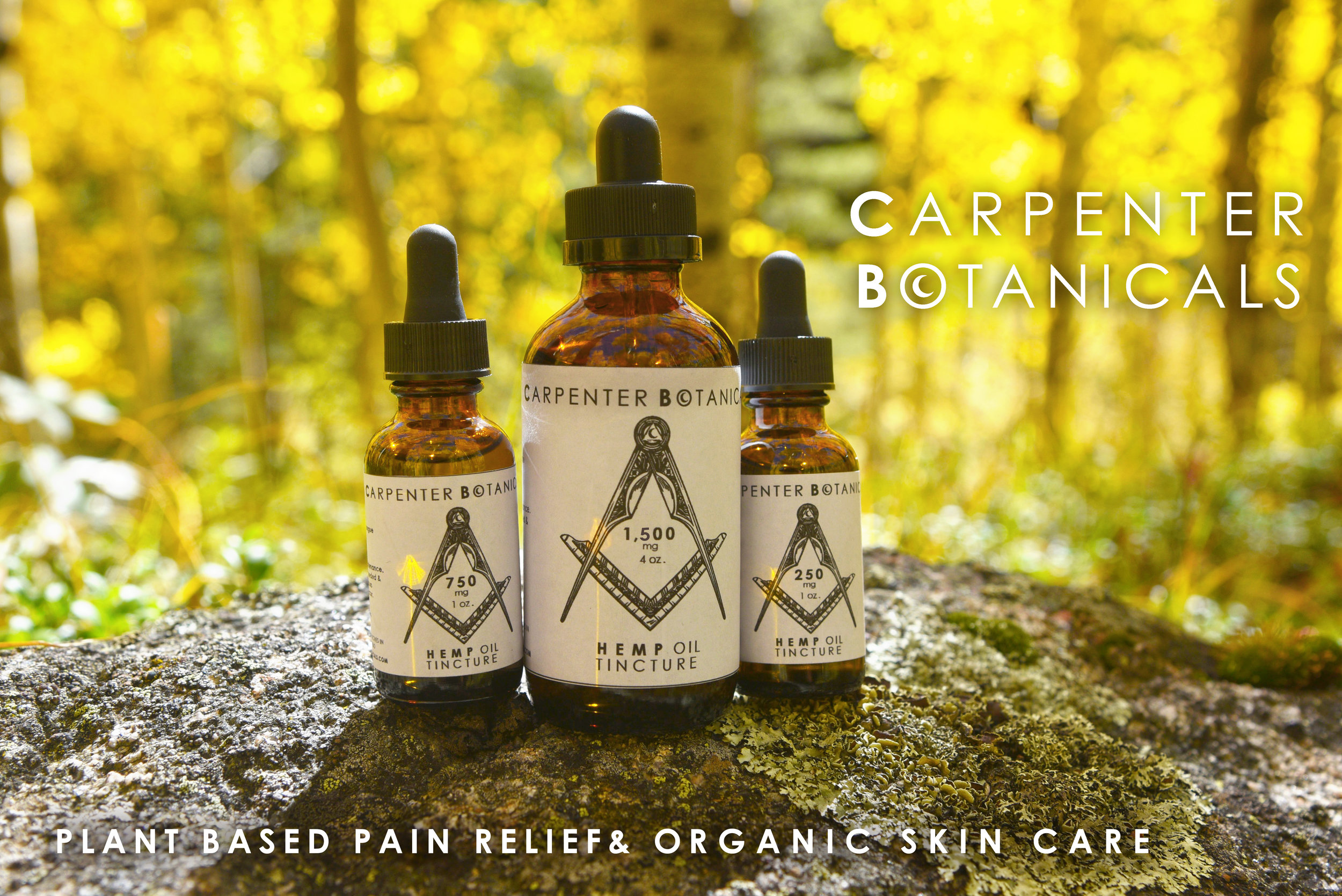 Carpenter Botanicals Plant Based Pain Relief and Organic Skin Care