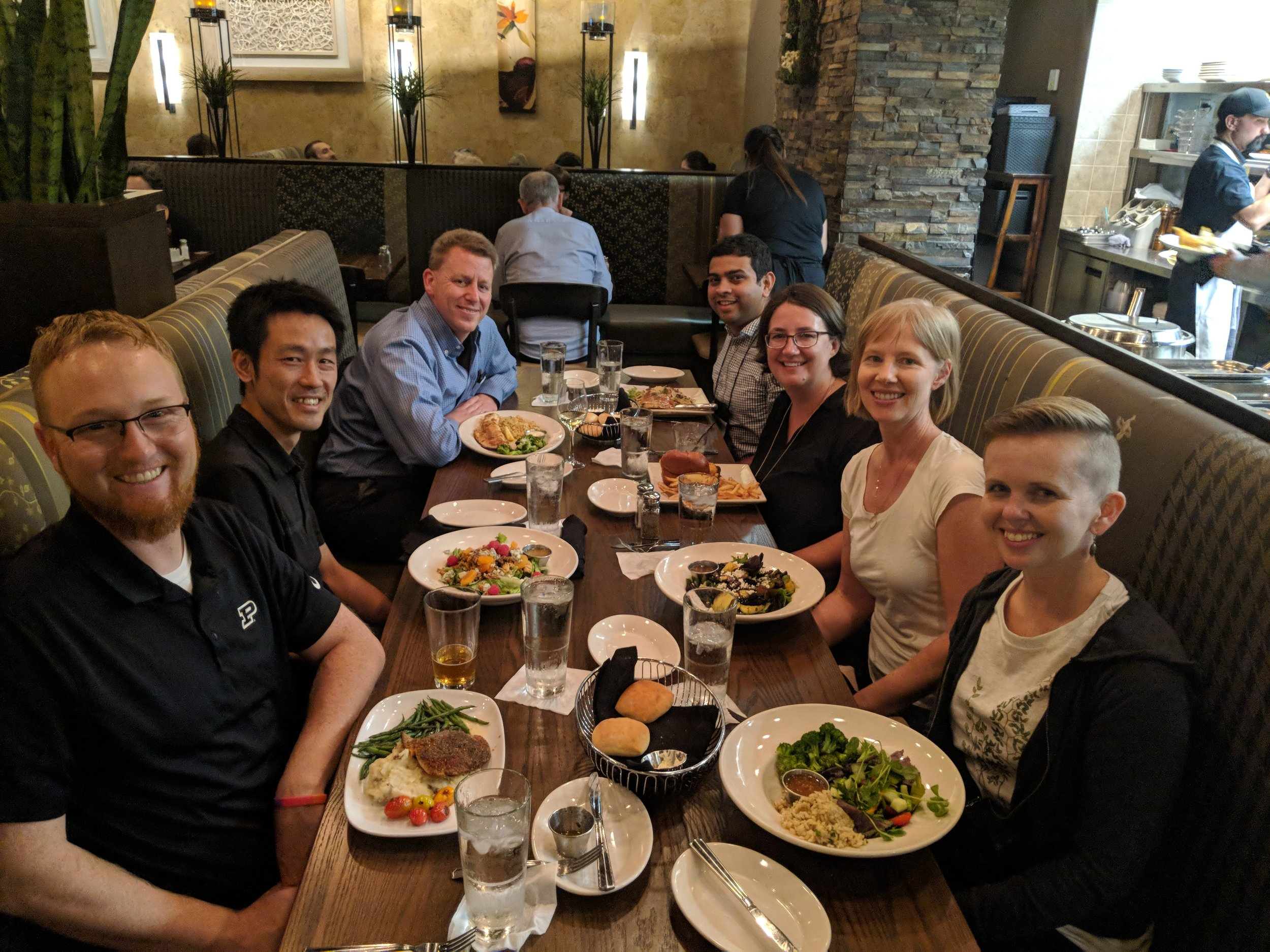 Good food and conversation with the symposium organizers (thanks Chris and Stacy!) and speakers.