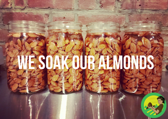 The almonds are soaking. The bars are being born.  Why are we NUTTY over Raw almonds? The answer is simple; they are extremely good for us! All almonds start off as a good source of fiber, protein, and monounsaturated fats which help lower LDL AKA bad cholesterol. Almonds contain calcium, vitamin E, minerals, folic acid, and iron.  All nuts, raw or roasted, supply these benefits but what's the point of these nutrients if the body isn't actually receiving them? Studies show that raw almonds contain many enzymes that are lost once roasted, enzymes that the body needs and craves. Raw nuts preserve all their natural enzymes and nutrients. The high temperatures used when roasting nuts causes most nutrients to diminish and some even get lost completely. In order for the body to actually receive these enzymes and all the nutrients from almonds, the nuts need to be unprocessed and raw.  FUN FACTS • Clinical studies show that almond intake helps lower the risk of cardiovascular disease. • We soak our almonds to ensure increased enzyme activity and greater absorption of the nutrients by the body allowing for increased digestibility.   #raw  #almonds  #healthy  #organic  #vegan  #glutenfree  #love  #food  #nuts  #rawandnutty