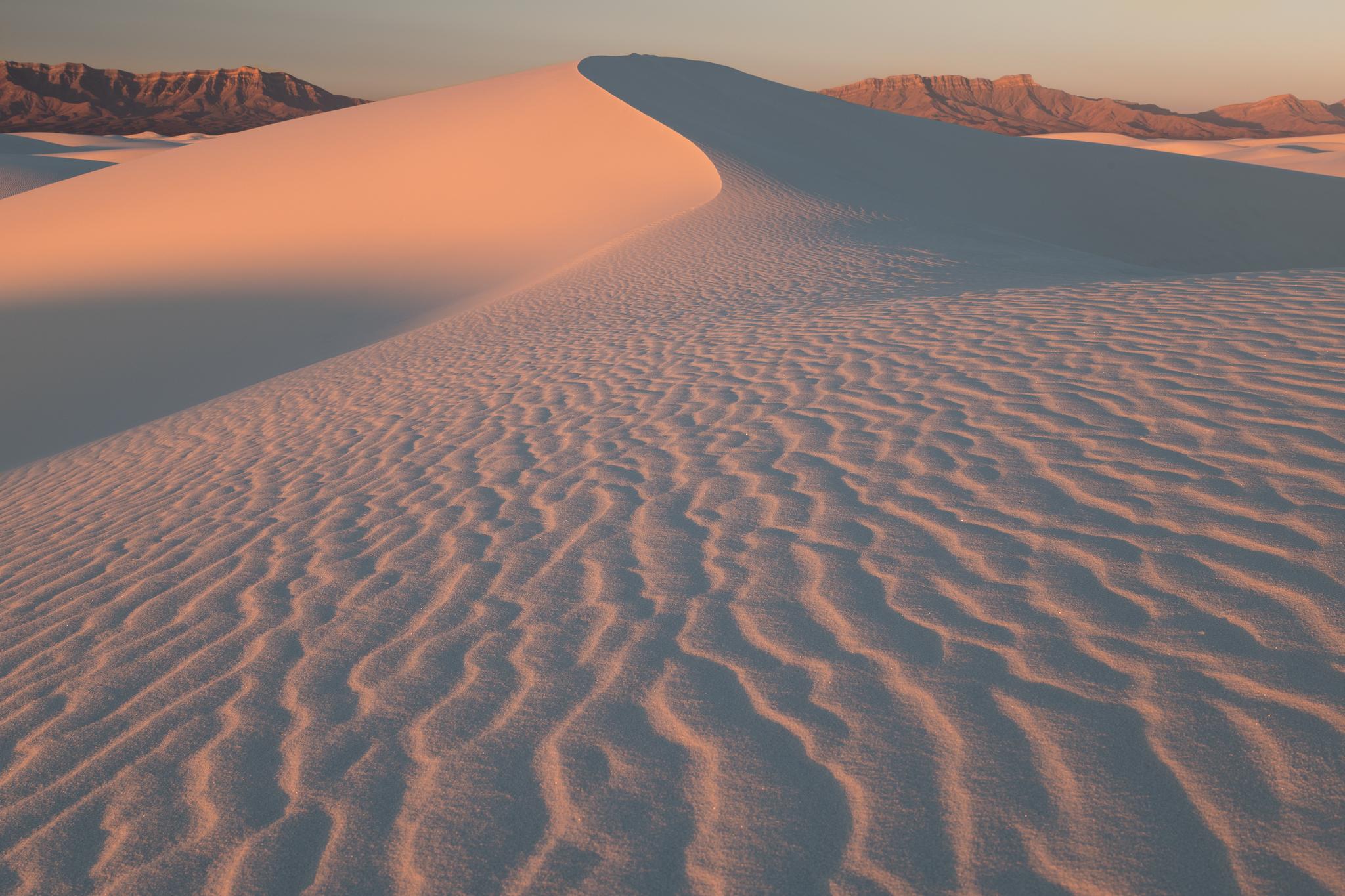 White Sand Dunes at sunrise