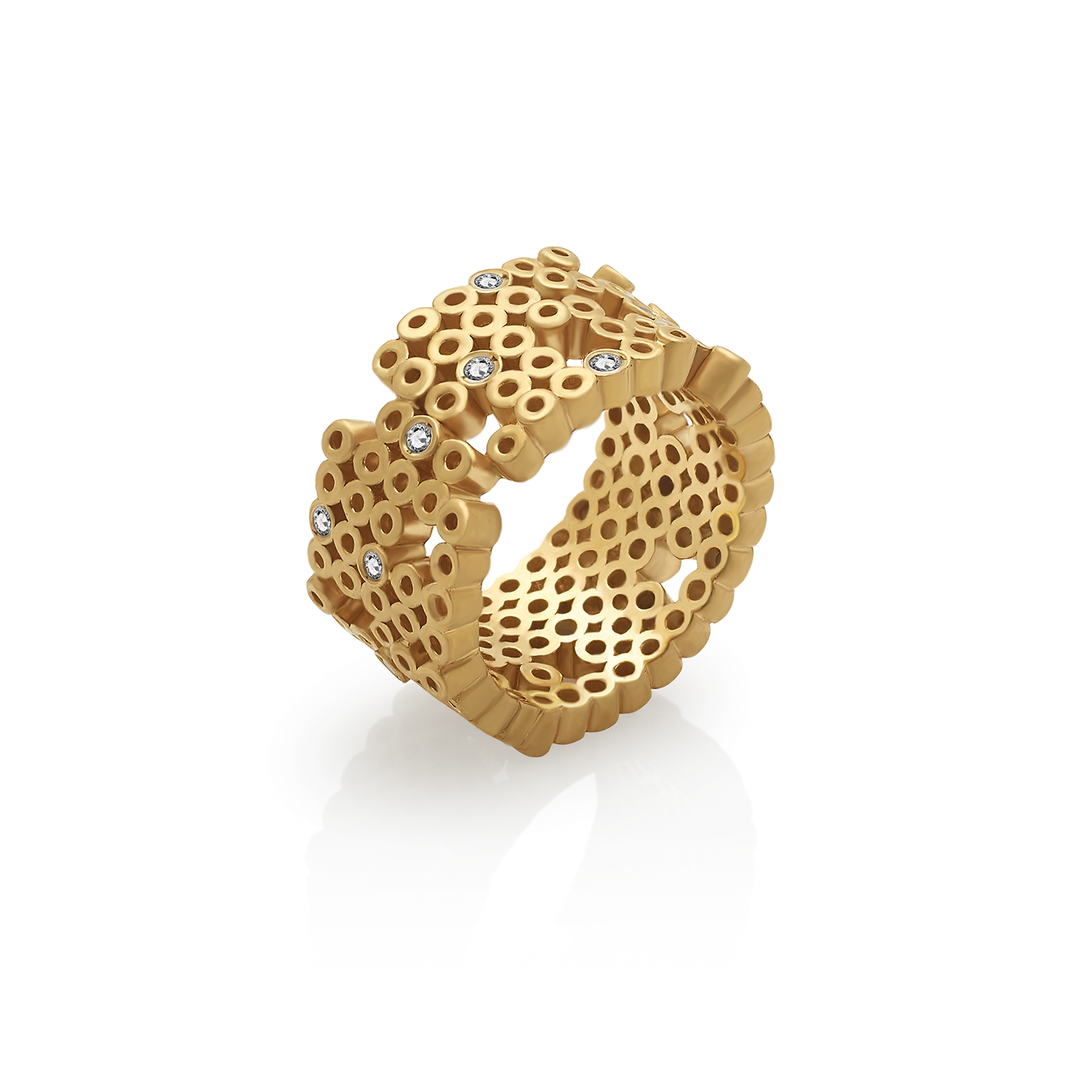 TUBE ring Sterling Silver / Gold Plated / Zircon When a circle is complete it's time to build new others or to open spaces!
