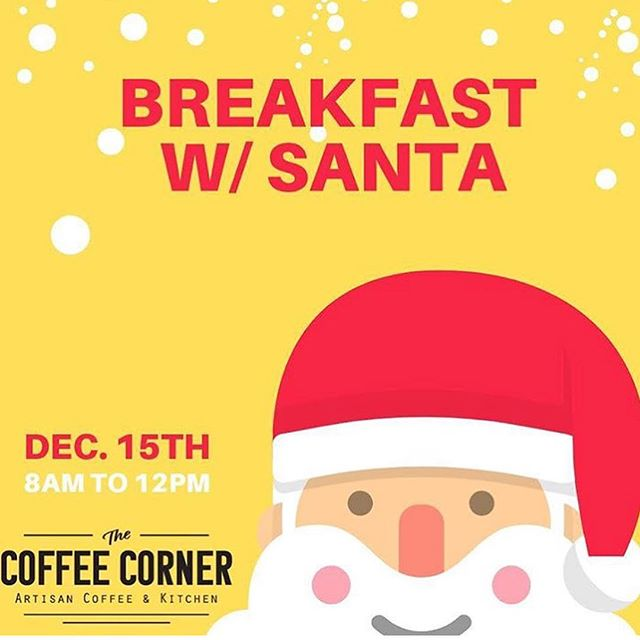 Breakfast with Santa benefiting Children's Harbor!! Swipe to check out details.... @thecoffeecorner_ac #downtown #mainstreetac #thecc #santa