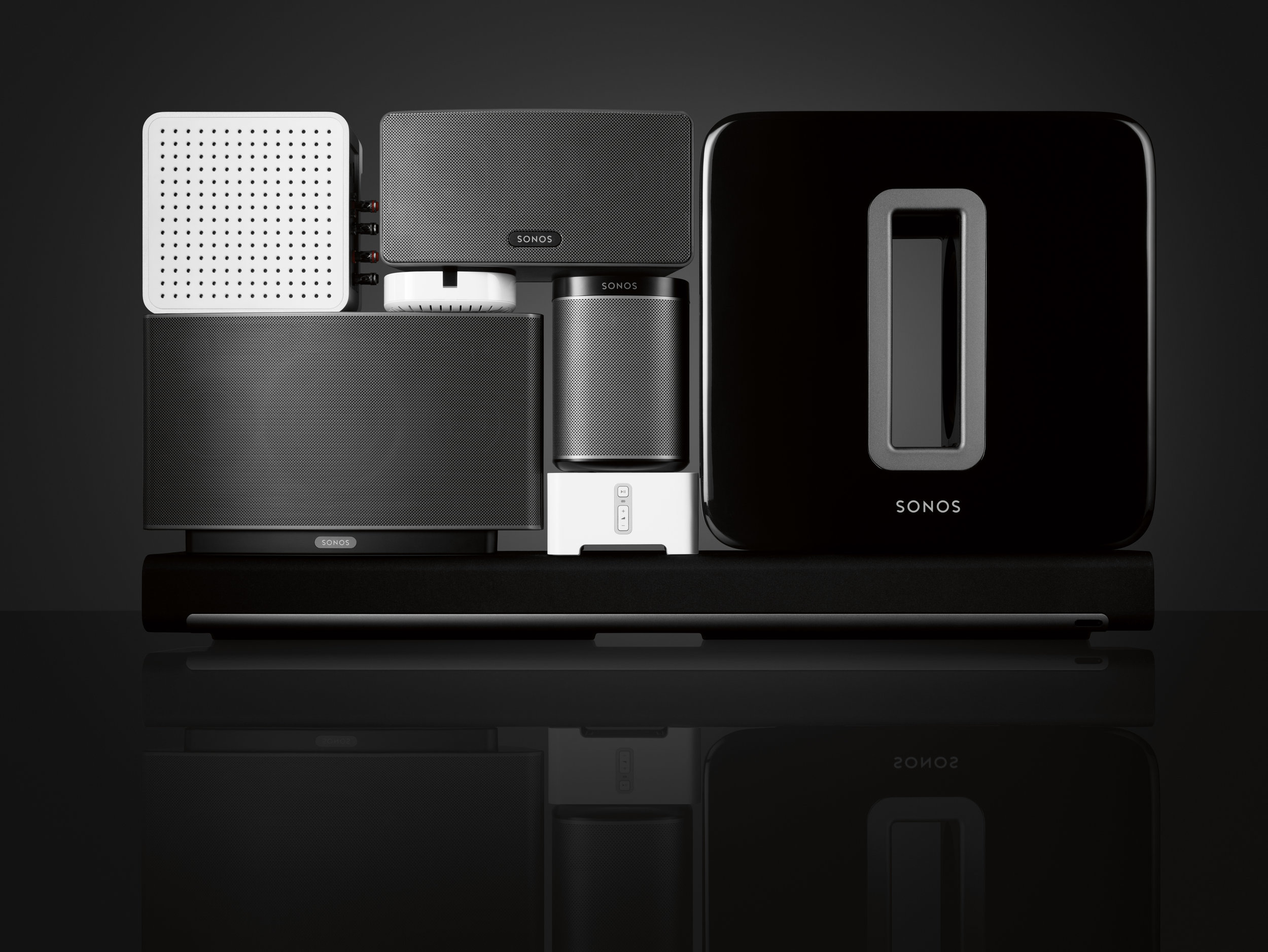 Complete SONOS family. Play 1 Play 3 Play 5 Playbar Sub Connect Connect AMP Home Audio Systems Home Cinema