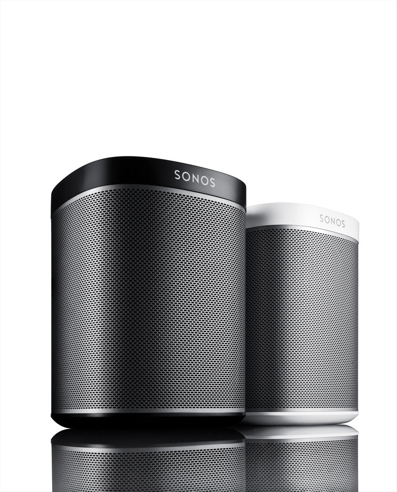 Pair of SONOS Play 1 Black and White Home Audio Systems