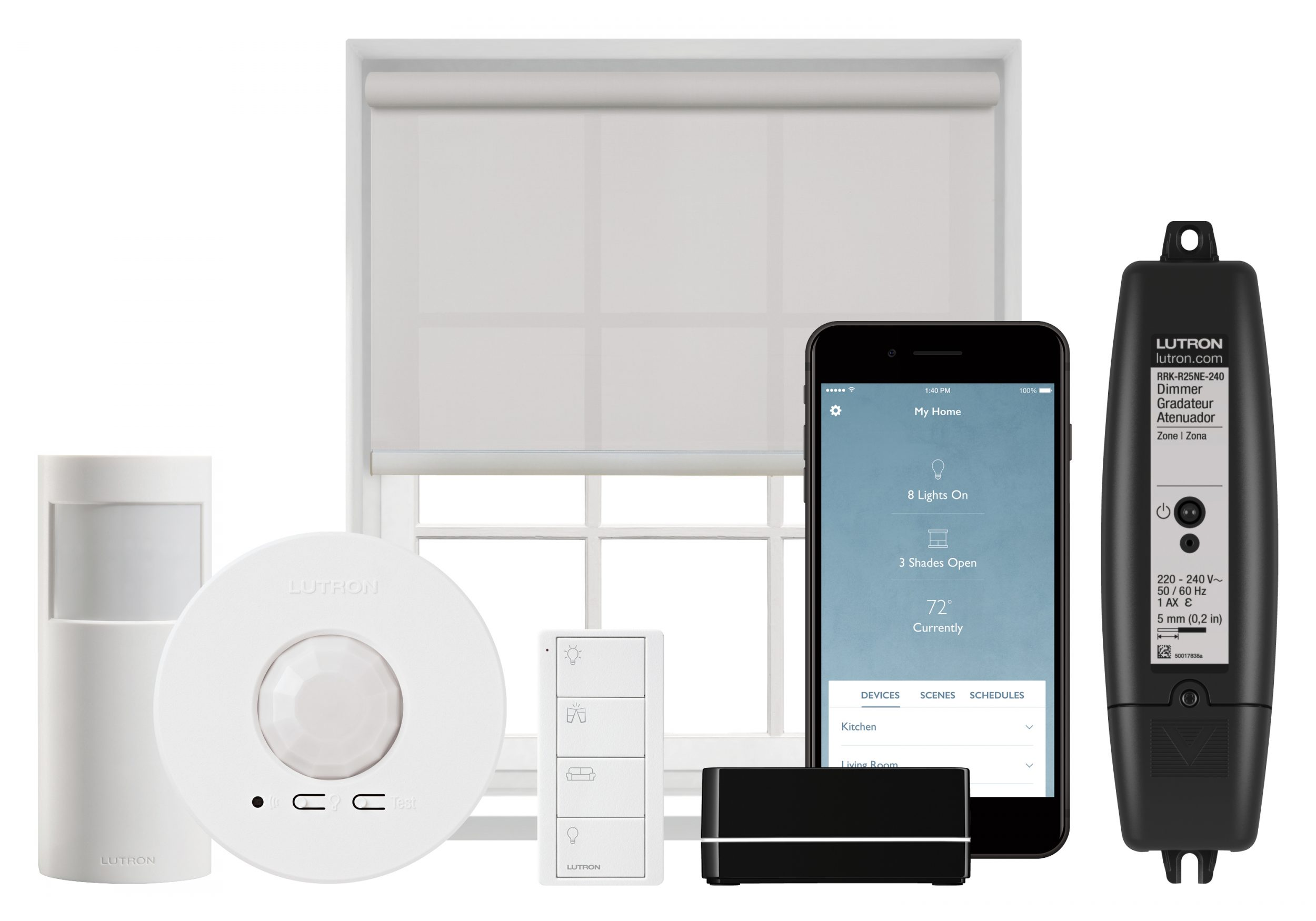 Luxury_Home_Automation_Lutron_RA2_Select_Product_Line_Repeater_inline_dimmer_motion_sensor_Shading_Pico_Remote