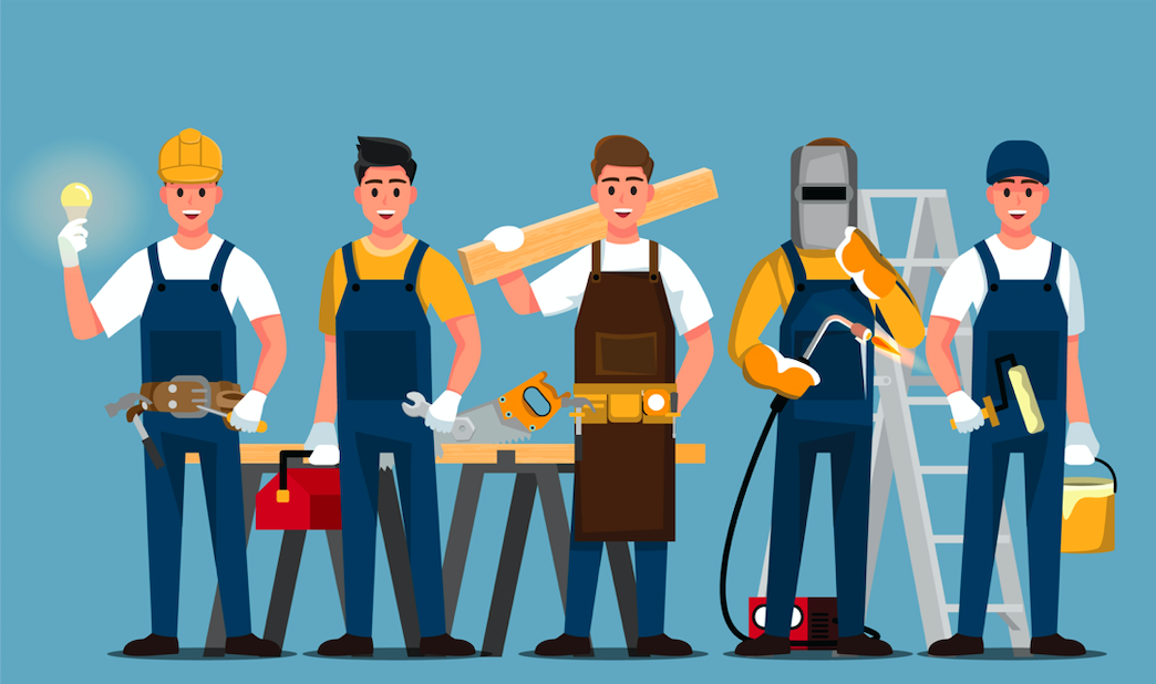 Tradesmen_Builder_Electrician_Plumber_Carpenter_Decorator_Confusion